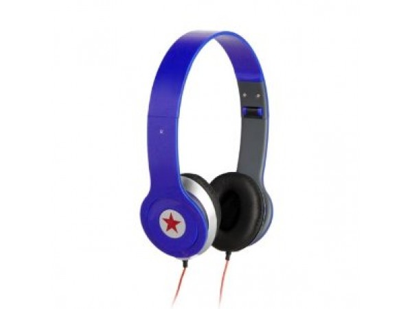 Blue Over Ear Hifi Stereo Head set
