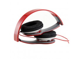 Red Over Ear Hifi Stereo Head set