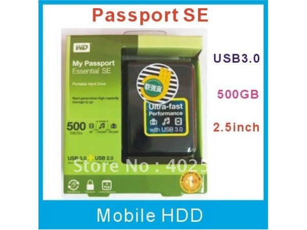 500GB External HDD WD