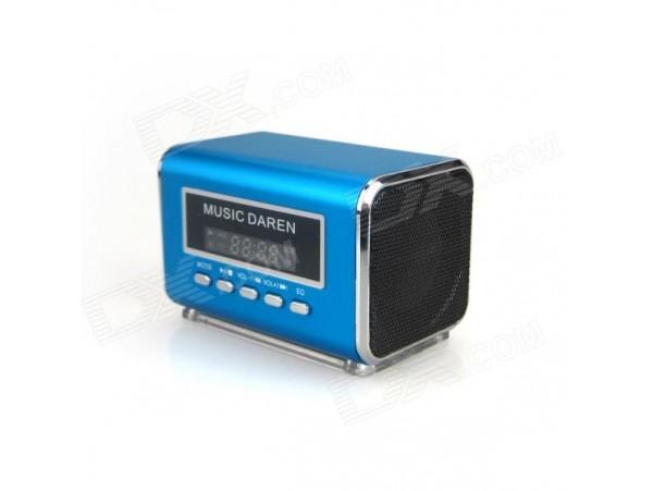 "S300 Portable 1.9"" LCD Mini Speaker MP3 Player"