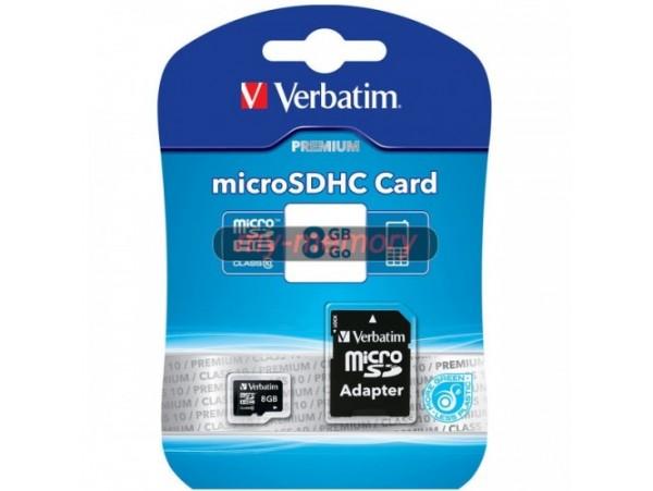 Verbatim 8GB Micro SD Card & Adaptor